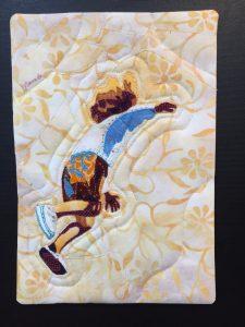 "Quilt art ""Freedom"" by Joan Sowada"