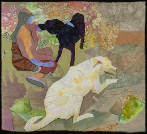 "Quilt art ""Hanging Out"" by Joan Sowada"