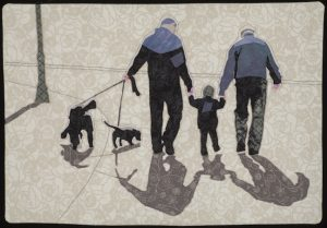 "Quilt art ""Winter Stroll"" by Joan Sowada"