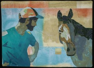 "Quilt art ""Seeing Eye to Eye"" by Joan Sowada"